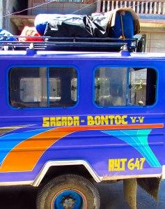 Sagada to Bontoc Jeepney