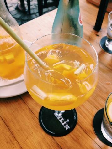 Mango and Lemongrass Sangria