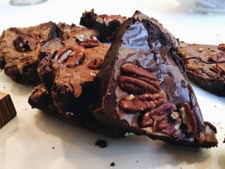 Chocolate, sea salt and pecan brownies