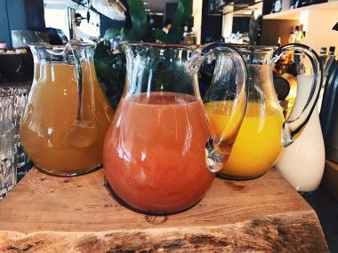 Freshly pressed juices