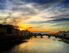 Florence Sunset View Arno