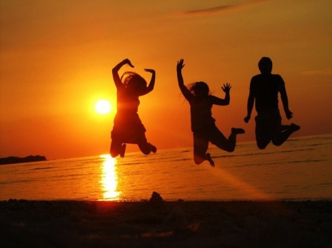 The 'Jump In Front Of The Sunset' Shot